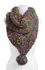 Big Buddha Infinity Scarf. Bright colors really pop against the gray. My new winter scarf!