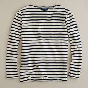 Saint James Unisex Striped Shirt @ J. Crew