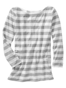 Essential Stripe Boatneck T @ Gap