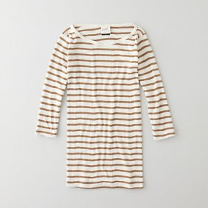 Edith A. Miller Striped Boatneck 3/4 Sleeve @ Steven Alan