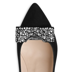 Kareena Suede Block Heel Court