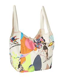 Pagliacci Canvas Bag by Olarte Foussard & Co Inc - Multi Color